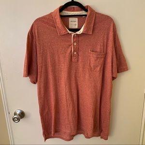 Billy Reid Red Short Sleeve Polo XXL